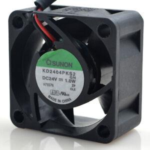 1pcs SUNON 24V 4020 1.0W KD2404PKS2 2-wire Speed Line Cooling Fan