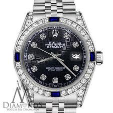 Rolex 26mm Datejust Black Jubilee Diamond Accent Dial Sapphire & Diamond Bezel