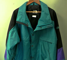Vintage North Face Men's Green/Black Skiing Winter Shell Jacket Coat XL X-Large