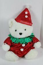 """1994 Santa Bear Dayton Hudson Christmas Clown White Plush 18"""""""