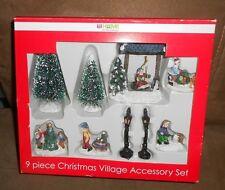 Rite Aid 9 pc Christmas Village Accessory Set - NEW in Box