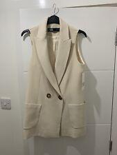 Zara Nude Waistcoat Blazer, Size Small