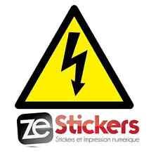 Autocollant sticker DANGER Electrique Electricité armoire Decals