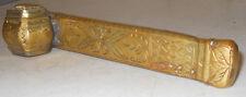 ANTIQUE ISLAMIC PERSIAN ART QAJAR BRASS INKWELL PEN HOLDER SCRIBES BOX