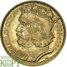 F503) Polen 10 Zlotych 1925 Boleslav Chobry  GOLD