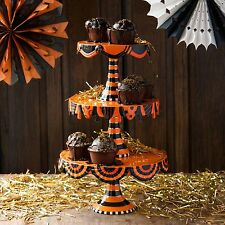 Glitterville Halloween Cake Plate Stand - 3 Tier Stacking - Cupcake CS0079