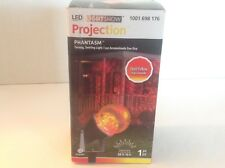 NEW Gemmy Phantasm Lightshow LED Projection Red Yellow Swirling Spotlight Stake