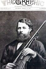 Herr Joseph Joachim 1877 NEW MUSICAL DOCTOR UNIVERSITY of CAMBRIDGE Matted Print