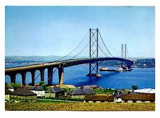 Forth Bridge From South End Postcard South Queensferry Scotland Uk Vintage