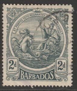 Barbados 1916-19 Colony Seal 2d grey sg184 used