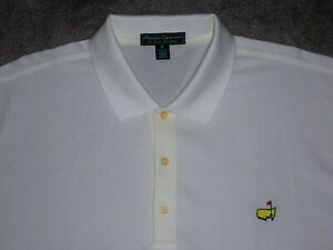 Men's NWOT MASTERS COLLECTION Golf Polo XL WHITE w/Masters Golf Logo ~ Augusta