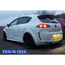 * 2x Super brillante Seat Leon MK2 FR 3LED frío blanco CANBUS Número De Matrícula Bombilla
