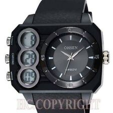 Classic Men's Ohsen Waterproof Sport Analog & Digital LED Wrist Watch.