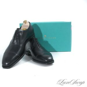 NIB #1 MENSWEAR Edward Green England Pawsley Black Captoe 888 Last Shoes 10 10.5