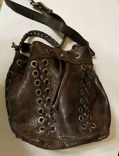 Patricia Nash Martina Cognac Distressed Vintage Leather Bucket Bag -- Used 1x