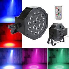 18W 18 LEDs RGB DMX Discokugel Disco DJ Strahler Lichteffekt mit Fernbedienung