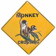 Monkey Crossing Aluminium Road Sign Animal Wildlife Gate Fence Wall New