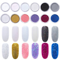 2G Nail Art Holographic Sugar Glitter Dust Powder 3D Nails Decoration Tips DIY