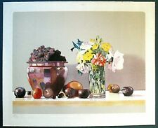 "Vtg. Orig. Hand Pulled Signed Lithograph Still Life by Joe Draegert -- ""August"""