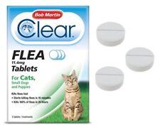 Flea Tablets CATS SMALL DOG PUPPY Bob Martin Clear Flea Kill Treatment UK STOCK