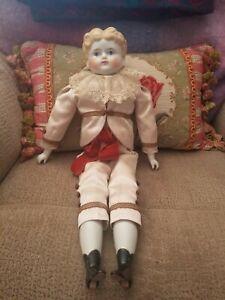 Old antique doll porcelain german boy china head BEAUTIFUL LOOKS LIKE A PRINCE