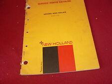 New Holland 285 Baler Original Dealer's Parts Book