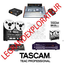 Ultimate Tascam Operation  Repair  Service manual & Schematics    200 PDF on DVD