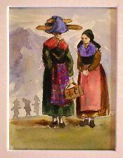 CONTINENTAL JOURNEY FIGURES PEASANT LADIES NR SALZBURG  ELIZABETH HOWARD 1865