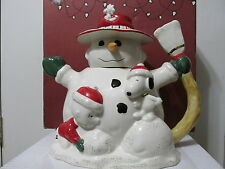 SNOOPY PEANUTS CHARLIE BROWN LENOX FINE CHINA CHRISTMAS DECORATIVE TEA POT 2004