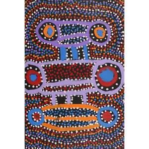 Aboriginal Art - Seed Dreaming - 46 x 30 cm