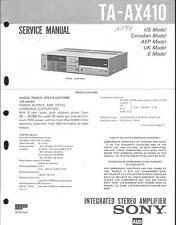 Sony Original Service Manual für TA-AX 410