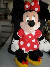 """20 """" Minnie Mouse Plush Doll Red Polka Dot Dress & Yellow Shoes GREAT CONDITION"""