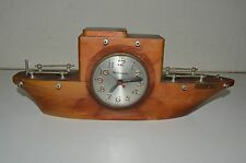 Vintage Boat Ship Shaped Nautical MASTERCRAFTERS Clock PARTS OR REPAIR NEEDS FIX