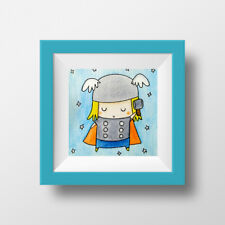 Thor & Loki Chibi art - set of 2 original & signed illustrations