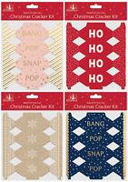 Machen & Füllung Dein Eigenes Mini Weihnachten Cracker Craft Set Schnapper Hüte