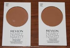 Revlon Nearly Naked Pressed Powder - DEEP # 050 - TWO - Both Brand New / Sealed