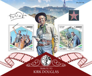 Sierra Leone Famous People Stamps 2020 MNH Kirk Douglas American Actor 2v S/S