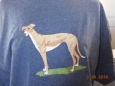 NEW GREYHOUND FULL BODY VIEW EMBROIDERED T-SHIRT ADD NAME FOR FREE