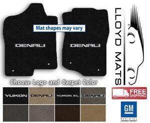 GMC Yukon - Lloyd Ulimat Carpet 2pc Front Floor Mats - Choose Color & Logo