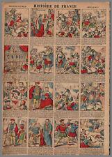 imagerie NOUVELLE VAGNé HISTOIRE de FRANCE PL  09  28x39cm