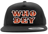 Black Drew AJ Green Andy Dalton Cincinnati Bengals WHO DEY Snapback Hat