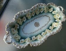 Antique R G Bavarian celery plate with flowers & gold