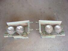 74 75 Chevy Caprice Impala Headlight Bucket Door Green w/ trim Set Pair LH RH