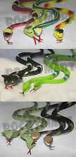 (LOT OF 12)  Rainforest Rubber Snakes Toy *14