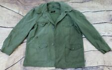 Rolane US Military Vtg 60s M65 Coat OG-107 Field w/ Hood Jacket Large Regular