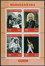 Madagascar Music Stamps 2019 MNH Queen Freddie Mercury Famous People 4v M/S