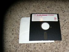 """The Railroad Works Commodore 64/128 C64 Game Mint 5.25"""" disk"""