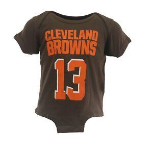Cleveland Browns Odell Beckham Jr. NFL Official Infant Baby Creeper Bodysuit New