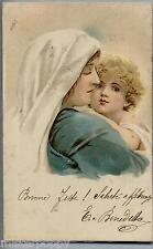 MARRIETT M. BENNETT Madonna con Gesù bambino PC Viaggiata 1903 Rare early card!