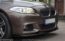 For BMW F10 F11 M Sport Front Bumper spoiler lip chin skirt splitter appron line